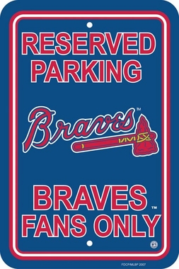 Atlanta Braves Plastic Parking Sign (P)