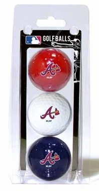 Atlanta Braves Set of 3 Multicolor Golf Balls