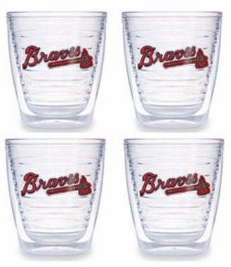 Atlanta Braves Set of FOUR 12 oz. Tervis Tumblers