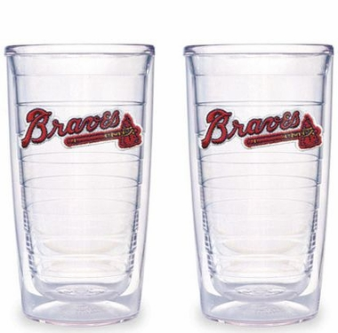 Atlanta Braves Set of TWO 16 oz. Tervis Tumblers