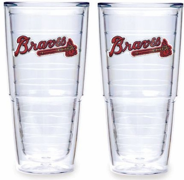 "Atlanta Braves Set of TWO 24 oz. ""Big T"" Tervis Tumblers"