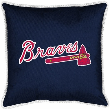 Atlanta Braves SIDELINES Jersey Material Toss Pillow