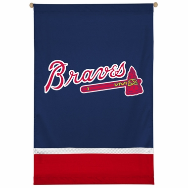 Atlanta Braves SIDELINES Jersey Material Wallhanging