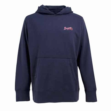 Atlanta Braves Mens Signature Hooded Sweatshirt (Alternate Color: Navy)