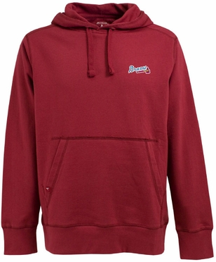 Atlanta Braves Mens Signature Hooded Sweatshirt (Team Color: Red)