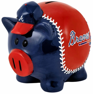 Atlanta Braves Piggy Bank - Thematic Small