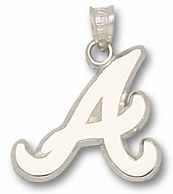 Atlanta Braves Sterling Silver Pendant