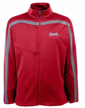 Atlanta Braves Mens Viper Full Zip Performance Jacket (Team Color: Red)