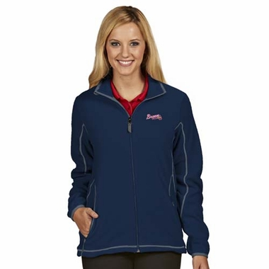 Atlanta Braves Womens Ice Polar Fleece Jacket (Color: Navy)