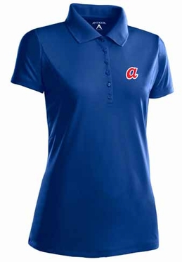 Atlanta Braves Womens Pique Xtra Lite Polo Shirt (Cooperstown) (Team Color: Royal)