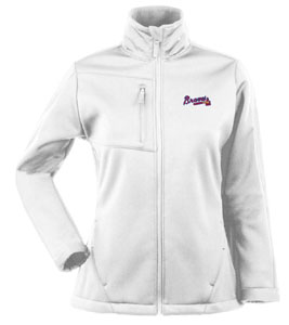 Atlanta Braves Womens Traverse Jacket (Color: White) - Medium