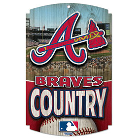 Atlanta Braves Wood Sign