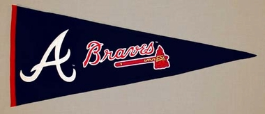 Atlanta Braves Wool Pennant