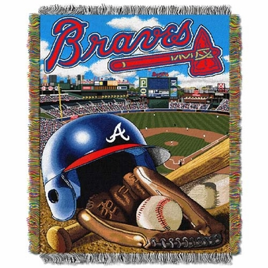 Atlanta Braves Woven Tapestry Blanket