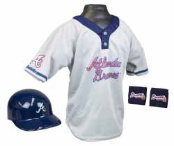 Atlanta Braves YOUTH Helmet and Jersey Set