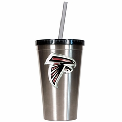 Atlanta Falcons 16oz Stainless Steel Insulated Tumbler with Straw