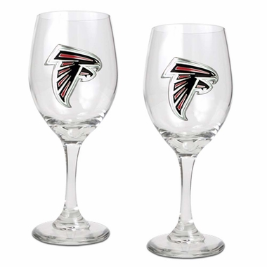 Atlanta Falcons 2 Piece Wine Glass Set