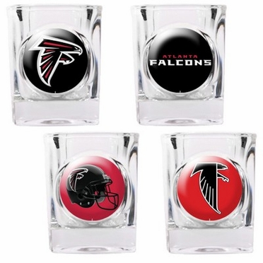 Atlanta Falcons 4 Piece Assorted Shot Glass Set