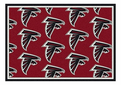"Atlanta Falcons 5'4"" x 7'8"" Premium Pattern Rug"