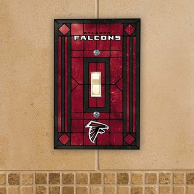 Atlanta Falcons Art Glass Lightswitch Cover