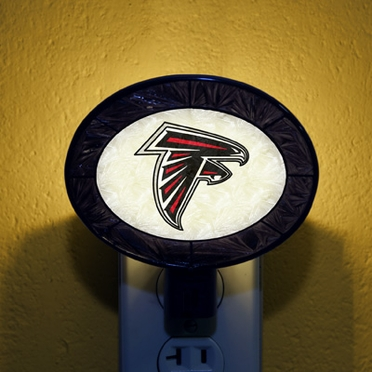 Atlanta Falcons Art Glass Night Light