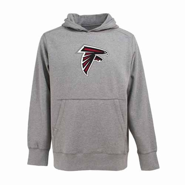 Atlanta Falcons Big Logo Mens Signature Hooded Sweatshirt (Color: Gray)