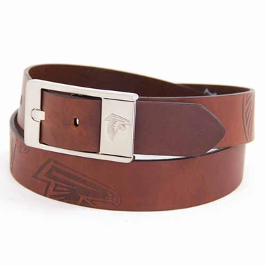 Atlanta Falcons Brown Leather Brandished Belt