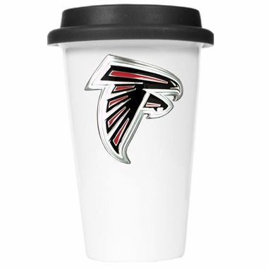 Atlanta Falcons Ceramic Travel Cup (Black Lid)