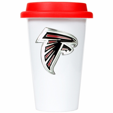 Atlanta Falcons Ceramic Travel Cup (Team Color Lid)