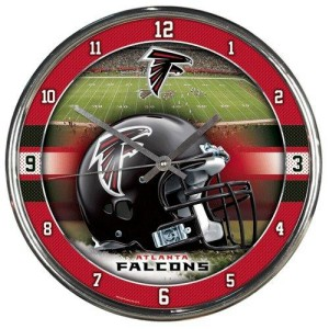 Atlanta Falcons Chrome Clock