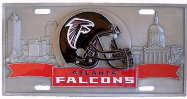 Atlanta Falcons Deluxe Collector's License Plate