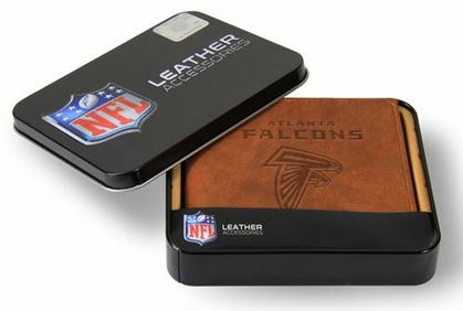 Atlanta Falcons Embossed Leather Bifold Wallet