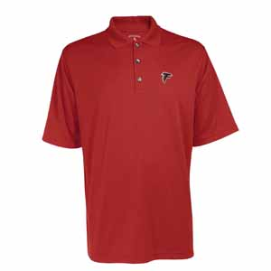 Atlanta Falcons Mens Exceed Polo (Team Color: Red) - Large