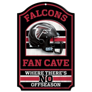 Atlanta Falcons Fan Cave Wood Sign