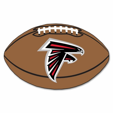 Atlanta Falcons Football Shaped Rug