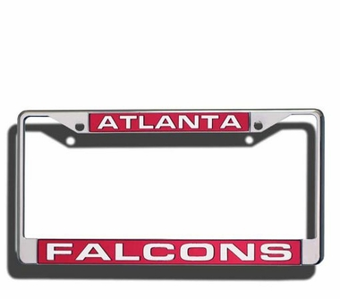 Atlanta Falcons Laser Etched Chrome License Plate Frame