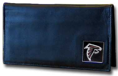 Atlanta Falcons Leather Checkbook Cover (F)