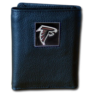 Atlanta Falcons Leather Trifold Wallet (F)