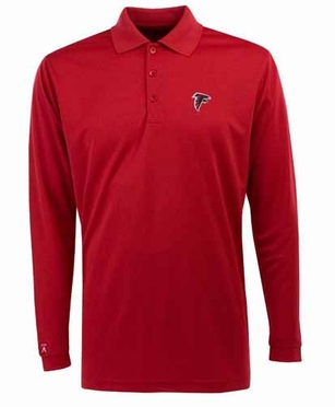 Atlanta Falcons Mens Long Sleeve Polo Shirt (Team Color: Red)