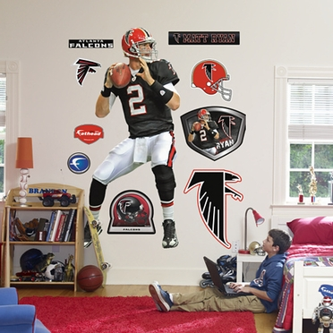 Atlanta Falcons Matt Ryan (Throwback) Fathead Wall Graphic