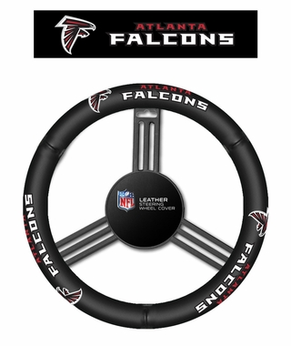 Atlanta Falcons Steering Wheel Cover - Leather