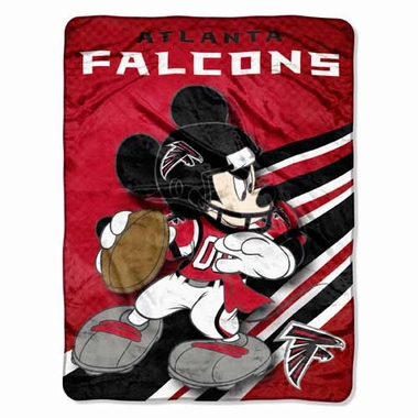 Atlanta Falcons Mickey Mouse Microfiber Throw