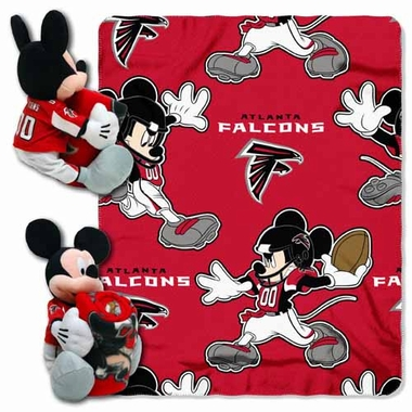 Atlanta Falcons Mickey Mouse Pillow / Throw Combo