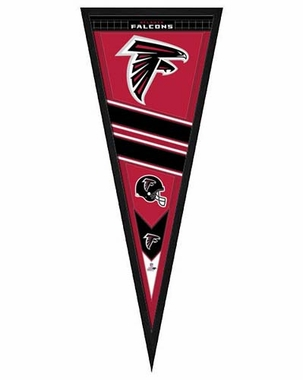 "Atlanta Falcons Pennant Frame - 13""x33"" (No Glass)"