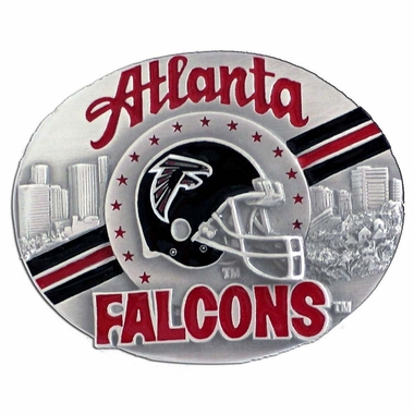 Atlanta Falcons Enameled Belt Buckle