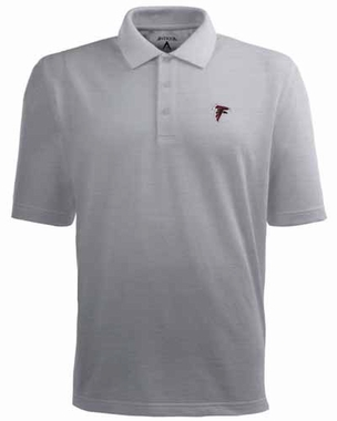 Atlanta Falcons Mens Pique Xtra Lite Polo Shirt (Color: Gray)