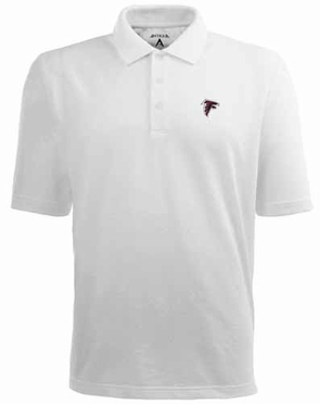 Atlanta Falcons Mens Pique Xtra Lite Polo Shirt (Color: White)