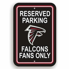 Atlanta Falcons Plastic Reserved Parking Sign (P)