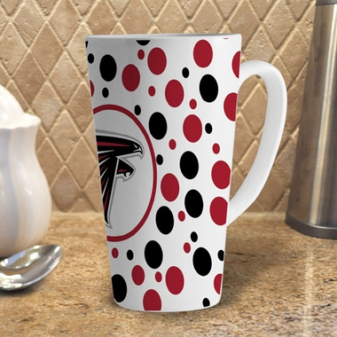 Atlanta Falcons Polkadot 16 oz. Ceramic Latte Mug