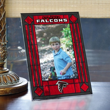 Atlanta Falcons Portrait Art Glass Picture Frame